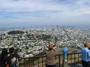Сан Франциско гледан от един от 44 хълмове на града