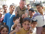 Jeff Key and the kids from Iraq