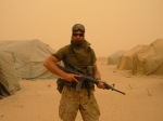 Jeff Key in the Iraq's desert