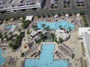 Поглед от 20 етаж на хотел Екскалибър