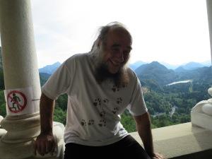 Малте седнал на терасата на замък край Мюнхен